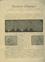Broderie D'Espagne. Ouvrages Nouveaux De Style Ancien - Couverture - Format classique