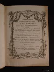 Description géographique des isles Antilles possédées par les Anglois - Couverture - Format classique