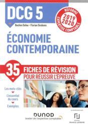 DCG5 ; économie contemporaine - fiches de révision - réforme 2019-2020 - réforme expertise comptable (édition 2019/2020) - Couverture - Format classique