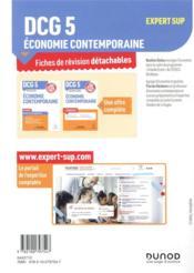 DCG5 ; économie contemporaine - fiches de révision - réforme 2019-2020 - réforme expertise comptable (édition 2019/2020) - 4ème de couverture - Format classique