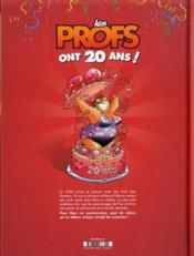 Les profs ; l'album des 20 ans - 4ème de couverture - Format classique