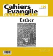Cahiers de l'Evangile N.190 ; Esther ; supplément - Couverture - Format classique