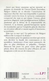Maigret hesite - 4ème de couverture - Format classique