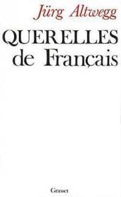 Querelles de francais - Couverture - Format classique