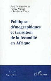 Politiques Demographiques Et Transition De La Fecondite En Afrique - Intérieur - Format classique