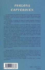 Parlons capverdien - langue et culture - 4ème de couverture - Format classique
