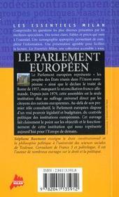 Guide du parlement europeen - 4ème de couverture - Format classique