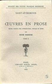 Oeuvres en prose - tome ii - Couverture - Format classique