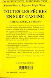 Toutes les peches en surf-casting - 4ème de couverture - Format classique