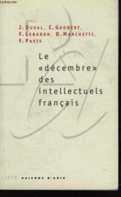 Le decembre des intellectuels francais - Couverture - Format classique