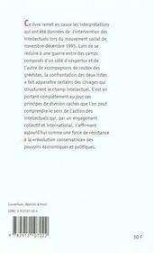 Le decembre des intellectuels francais - 4ème de couverture - Format classique