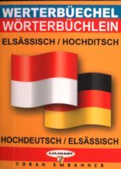 Mini-dico elsässisch-hochditsch/alsacien-allemand - Couverture - Format classique