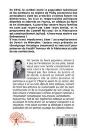 Memoire Oubliee - 4ème de couverture - Format classique