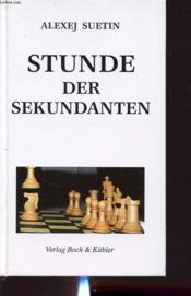 Stunde Der Sekundanten - Couverture - Format classique