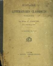 Histoire Des Litteratures Classiques. Tableaux. - Couverture - Format classique