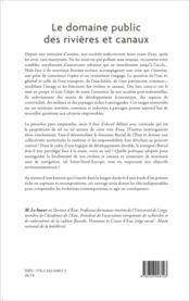 Le domaine public des rivières et canaux ; histoire culturelle et enjeux contemporains - Couverture - Format classique