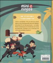 MINI NINJAS ; une effroyable transformation t.3 - 4ème de couverture - Format classique