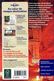 Jordanie (6e édition) - 4ème de couverture - Format classique