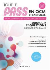 Tout le PASS en QCM ; 3000 QCM et questions, extraits d'annales (édition 2020/2021) - Couverture - Format classique
