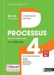 LES PROCESSUS 4 ; BTS CG ; gestion des relations sociales ; 1re et 2e années (édition 2020) - Couverture - Format classique