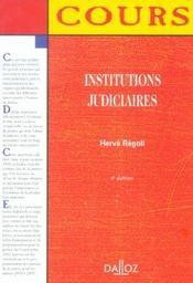 Institutions Judiciaires - 4e Ed. - Intérieur - Format classique