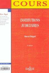 Institutions Judiciaires - 4e Ed. - 4ème de couverture - Format classique