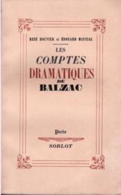 Les comptes dramatiques de Balzac - Couverture - Format classique