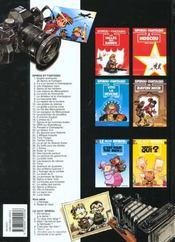 Les aventures de Spirou et Fantasio T.27 ; l'Ankou - 4ème de couverture - Format classique
