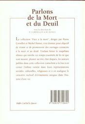 Parlons De La Mort Et Du Deuil - 4ème de couverture - Format classique