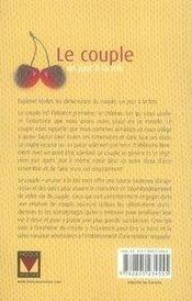 Le couple un jour à la fois (édition 2007) - 4ème de couverture - Format classique