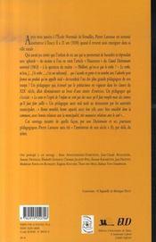 Pierre larousse et la pédagogie ; actes du colloque international de l'association pierre larousse, mai 2006 - 4ème de couverture - Format classique