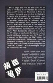 Petite histoire des rois et ducs de Bretagne - 4ème de couverture - Format classique
