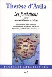 Fondations ; actes et mémoires et poésies - Couverture - Format classique