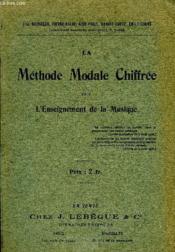 La Methode Modale Chiffree - Couverture - Format classique