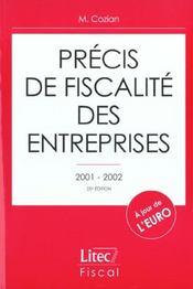 Precis de fiscalite des entreprises 2001-2002 ; 25e edition - Intérieur - Format classique