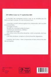 Precis de fiscalite des entreprises 2001-2002 ; 25e edition - 4ème de couverture - Format classique
