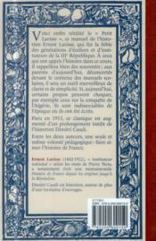 Histoire de France ; de la Gaule à nos jours - 4ème de couverture - Format classique