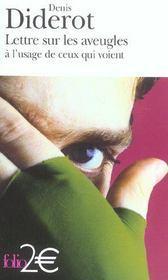 Lettre sur les aveugles à l'usage de ceux qui voient - Intérieur - Format classique