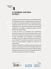 Le patrimoine territorial en projet - 4ème de couverture - Format classique