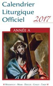 Calendrier liturgique officiel 2017 ; 25 ex - Couverture - Format classique