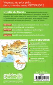 GEOguide ; Italie du Nord ; les Grands lacs, Venise, Milan - 4ème de couverture - Format classique