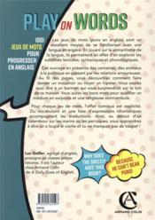Play on words ; 1001 jeux de mots pour progresser en anglais - 4ème de couverture - Format classique