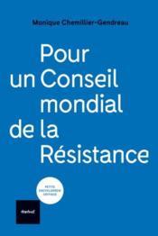 Pour un conseil mondial de la résistance - Couverture - Format classique