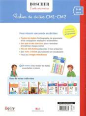 Méthode Boscher ; cahier de dictées CM1-CM2 - 4ème de couverture - Format classique