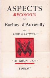 Aspects méconnus de Barbey d'Aurevilly - Couverture - Format classique