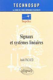Signaux Et Systemes Lineaires - Intérieur - Format classique