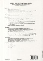 REVUE FRANCAISE DE PSYCHANALYSE N.72/3 ; le sexuel infantile en séance - 4ème de couverture - Format classique
