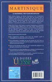 Guide Ulysse ; Martinique ; 3e Edition - 4ème de couverture - Format classique
