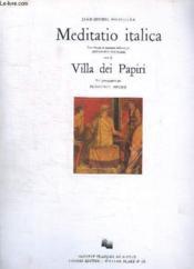 Meditatio Italica - Couverture - Format classique