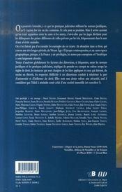 Normes juridiques et pratiques judiciaires du moyen-age a l epoque contemporaine - 4ème de couverture - Format classique